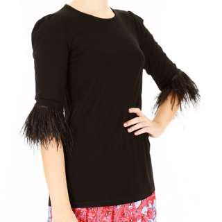MICHAEL KORS blouse with feathers