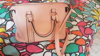 Salmon Pink Sling Bag