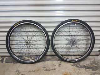 26 v brake wheelset