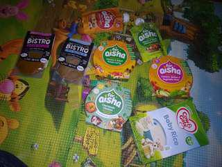 Baby food instant mostly halal. Some non meat