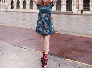 Forever21 Floral Dress in Green