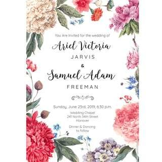 Wedding Cards Print