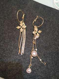 Glam gold Cross earring (#035)