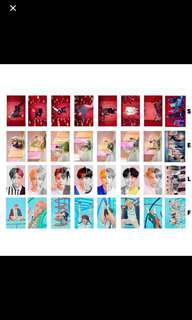BTS Love Yourself Answer Photocards ( ezlink stickers)