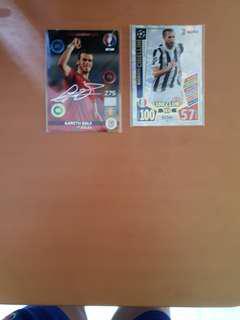 Bale  signature card,chelini 100 club