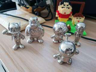 Doraemon solid metal figurines (one set of 5 pieces) (minty)