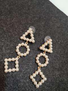 Shapes pearl fashion earrings (#039)