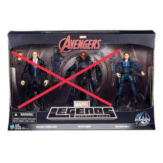 TRU Exclusive Marvel Legends Infinite Series Avengers Agents Of Shield 3-Pack Maria Hill (Infinity War Thanos BAF Select)