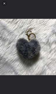 Heart fur gray