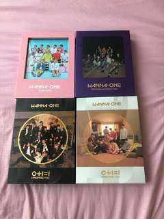 [wts/instocks] wanna one albums clearance💫