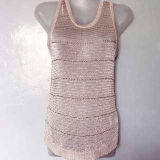 Wanko knitted and beaded sleeveless sweater