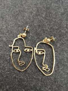 Uneven face fashion earrings (#042)