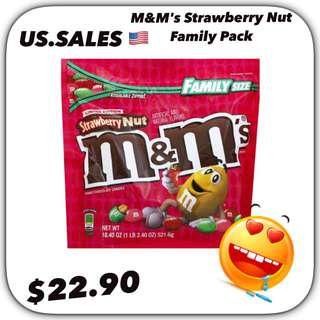 M&M's Strawberry Nut Family Pack from 🇺🇸