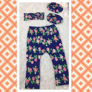 leggings , shoes turban set 12-24m