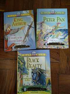 King Aurther, Peter Pan & Black Beauty (hard cover)