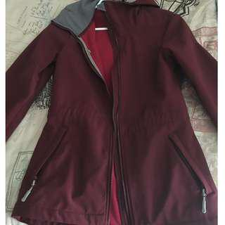 Small Burgundy/Wine/Maroon Bench Jacket