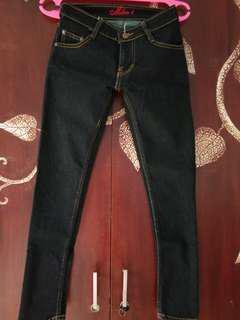 #MauiPhonex Jeans cewe biru tua