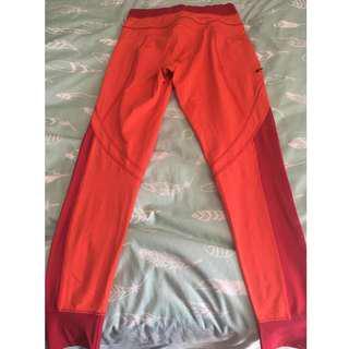 Size XS Bright Orange Lole Leggings w/ Pockets