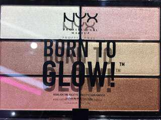 Nyx born to glow higlighting palette