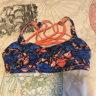 Size 4 Lululemon Floral Yoga Top (Light support)