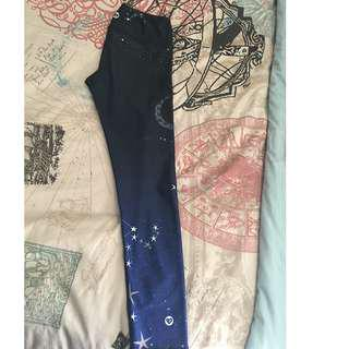 Size Small Silver Icing LIMITED EDITION Starry Night Leggings