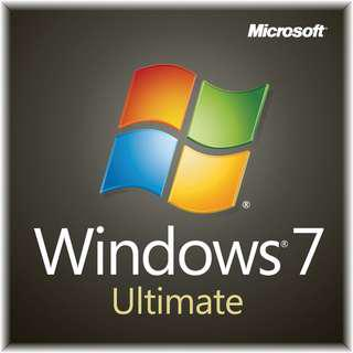 Windows 7 ULTIMATE *100% GENUINE ORIGINAL*
