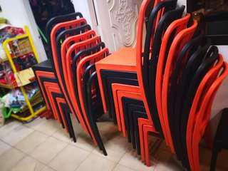Plastic chair with back rest for rental