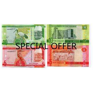 GAMBIA SET 2 PCS 5 10 DALASIS 2015 UNC  [ SPRCIAL OFFER ]