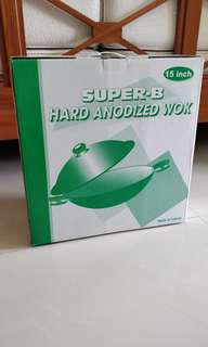 Super B Hard Anodized Wok (15 inch)