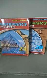 $60 for 2,Mathematics in Action Book 2A, 2B 分折版,有寫花不想浪費所以平售