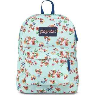 Jansport Floral Mint Green (limited edition)