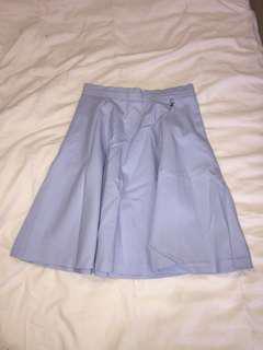 Blue Midi Skirt - Size 10