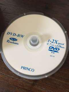 DVD-RW blank new