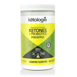 🚚 [PO] Ketogenic Supplement - Ketologie Ketones + Probiotics (Pineapple) - Net Wt.14.82oz