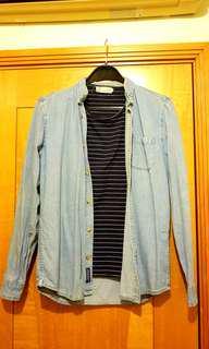 Pull & Bear淺藍色牛仔外衣