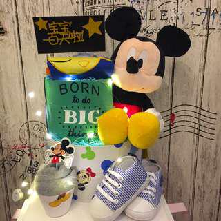 Micky Diapers Cake - 100 days celebration