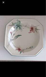 Mikasa Porcelain Soup Bowl, French Lily Design.