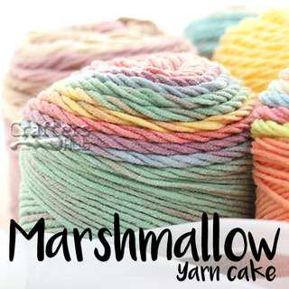 🚚 Marshmallow yarn cake / Multicolor acrylic blended cotton yarn cake
