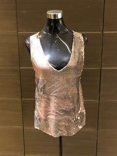 Mango Sequins Party Top