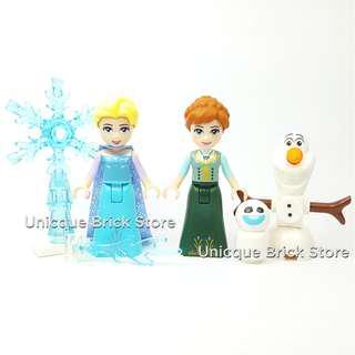 [Unicque] Lego Disney Princess Minifigure - Anna Elsa Olaf Snowgie (41148)