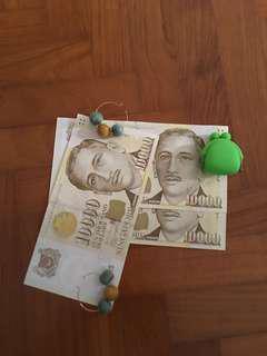 新加坡一万元三张连号
