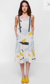 Love Bonito Pavanka Tie Back Sash Midi Dress