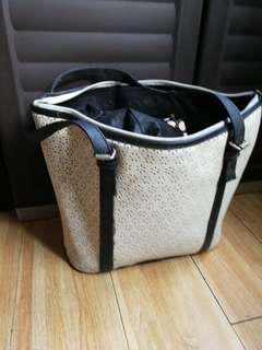 White Roomy Bag