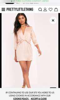 PLT silk shirt dress