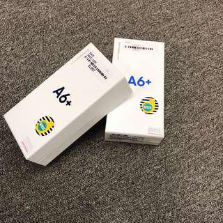 Samsung A6+ brand new warranty a year 32GB