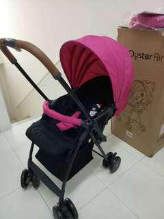 Stroller oyster air (new in box) leather handle