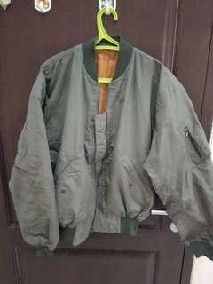 Jaket Hijau Orange (bisa bolak balik)