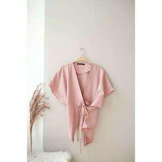 blouse kimono dusty pink shopatallen
