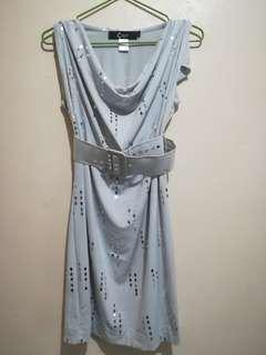 Gray Glitter Cocktail Dress