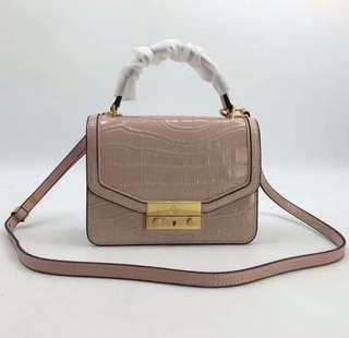 Tory burch juliette croc mini top handle crossbody bag-pink